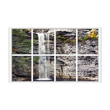 Waterfall Window A faux windo38.5 x 24.5 Wall Peel
