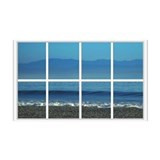 Ocean Ripple Window 38.5 x 24.5 Wall Peel