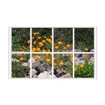 Poppy Garden Window 38.5 x 24.5 Wall Peel
