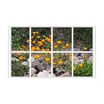 Poppy Garden Window 38.5 x 24.5 Wall Peel