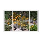 Poppy Garden Window 22x14 Wall Peel
