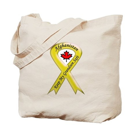 Afghanistan Grandson Safe Ribbon Tote Bag