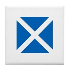 Flag of Scotland Tile Coaster