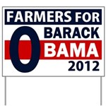Farmers for Obama 2012 Yard Sign