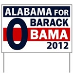Alabama for Obama Yard Sign