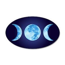 Three Phase Moon 38.5 x 24.5 Oval Wall Peel