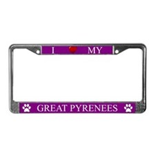Purple I Love My Great Pyrenees Frame