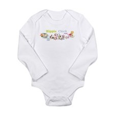 Hippie Chick at Heart Long Sleeve Infant Bodysuit
