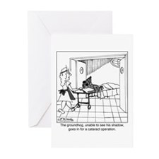 The groundhog has cataracts Greeting Cards (Pk of
