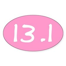 Cute Half marathon Decal