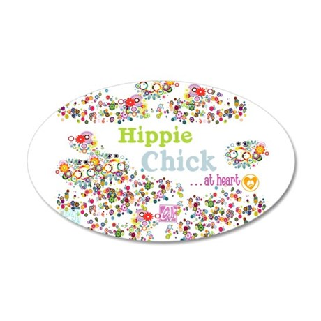 Hippie Chick at heart 38.5 x 24.5 Oval Wall Peel