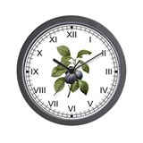 Provencal Plums Wall Clock