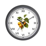 Provencal Peaches Wall Clock
