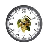 Provencal Grapes Wall Clock