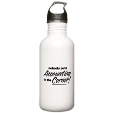 Accounting Nobody Corner Water Bottle