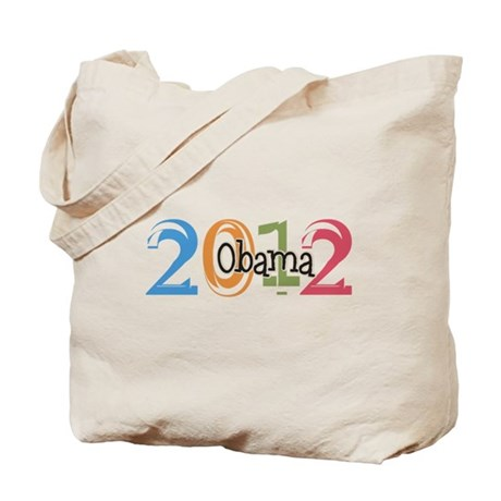 Obama 2012 Graphic Tote Bag