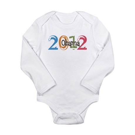 Obama 2012 Graphic Long Sleeve Infant Bodysuit