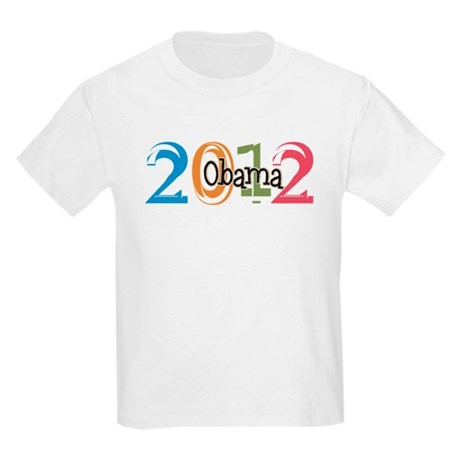 Obama 2012 Graphic Kids Light T-Shirt