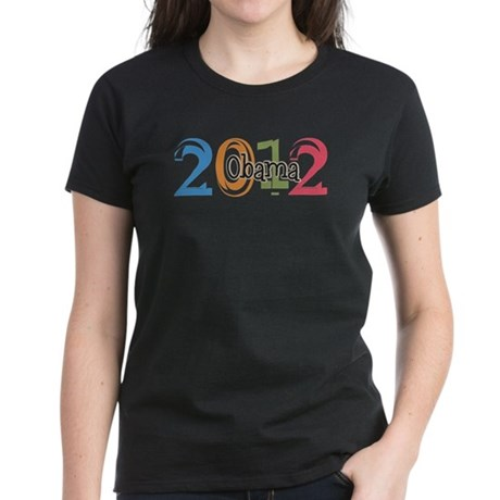Obama 2012 Graphic Women's Dark T-Shirt