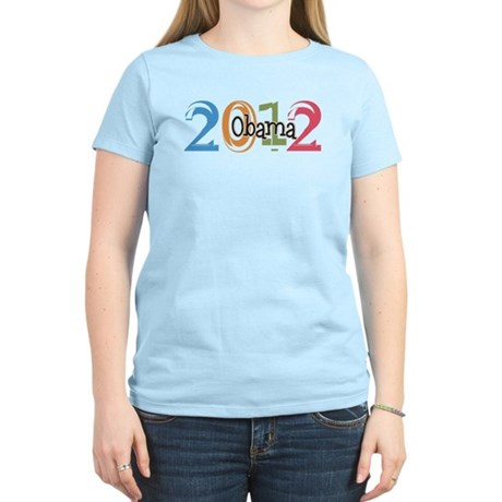 Obama 2012 Graphic Women's Light T-Shirt
