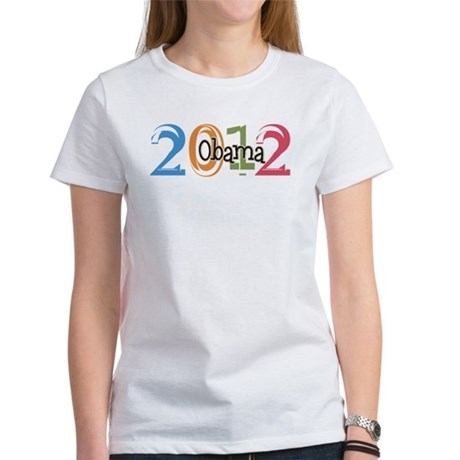 Obama 2012 Graphic Women's T-Shirt