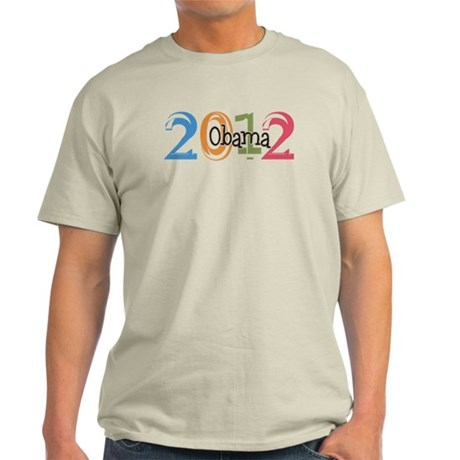 Obama 2012 Graphic Light T-Shirt