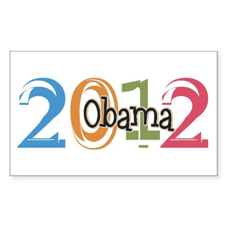 Obama 2012 Graphic Sticker (Rectangle)