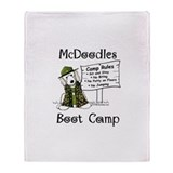 McD Boot Camp Throw Blanket