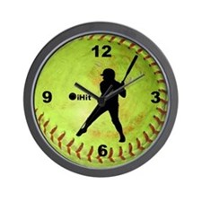 Fastpitch Softball ihit Wall Clock