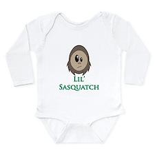 Little Sasquatch/Bigfoot Long Sleeve Infant Bodysu