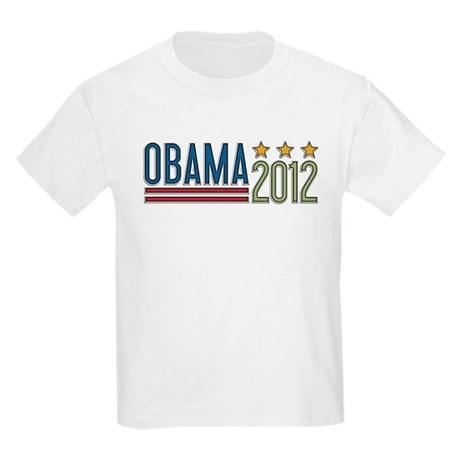 Obama 2012 Stars Kids Light T-Shirt