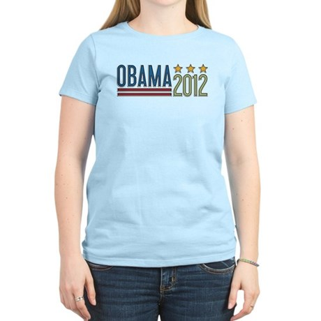 Obama 2012 Stars Women's Light T-Shirt