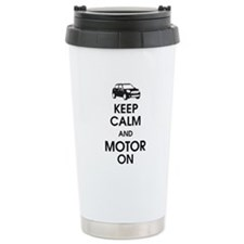 Keep Calm & Motor On Mini Ceramic Travel Mug