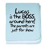 Lucas is the Boss baby blanket