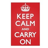 Keep Calm Carry On Postcards (Package of 8)