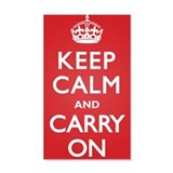 Keep Calm Carry On 38.5 x 24.5 Wall Peel