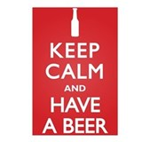 Keep Calm Have a Beer Postcards (Package of 8)