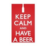 Keep Calm Have a Beer 22x14 Wall Peel