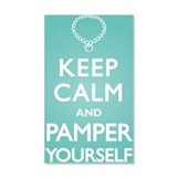Keep Calm Pamper 38.5 x 24.5 Wall Peel