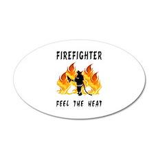 Firefighter Heat 22x14 Oval Wall Peel