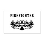 Firefighter Tattoos 22x14 Wall Peel