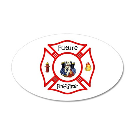 Future Firefighter Red 35x21 Oval Wall Decal