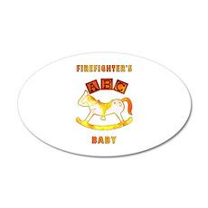 Firefighter's Baby 22x14 Oval Wall Peel