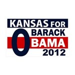 Kansas for Obama 2012 Large Wall Peel Graphic