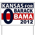 Kansas for Obama 2012 Yard Sign
