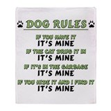 Dog Rules Throw Blanket