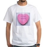 JASON CONVERSATION HEART Shirt