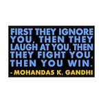 Then You Win Gandhi 38.5 x 24.5 Wall Peel