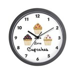 Live Love Cupcakes Wall Clock
