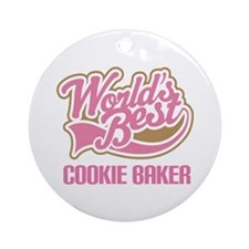Cookie Baker Ornament (Round)